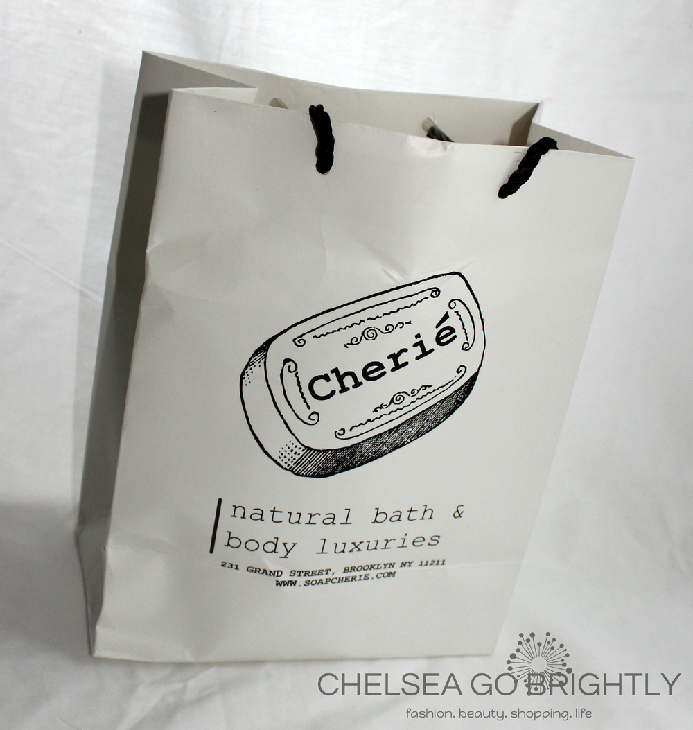 The bag from Soap Cherie...didn't quite survive being packed in a suitcase