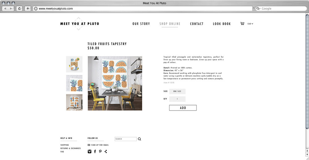 Shop Page - Individual