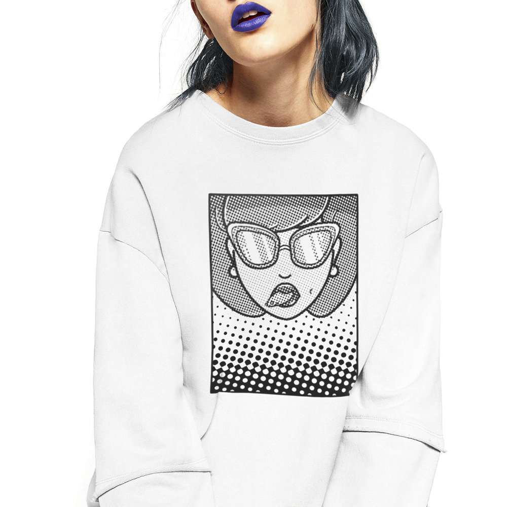 Cali Girl bitmap sweater design