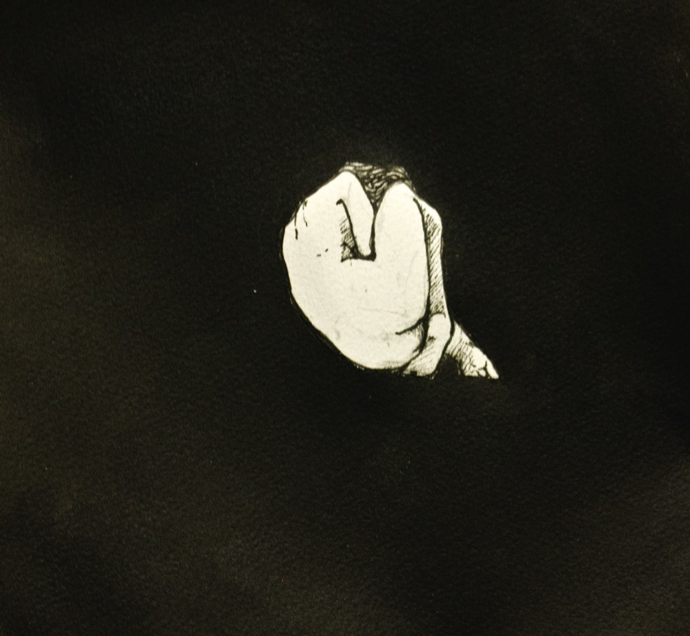 To be unborn  . 2013. 10 x 10 inches. Ink wash on paper.