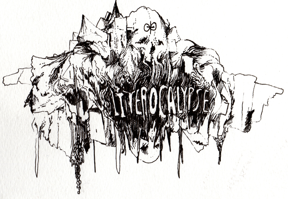Header design for a literary collective known as Literocalypse.