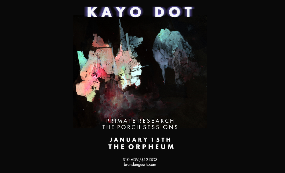 Flier for a concert avant-garde band Kayo Dot did in Tampa.
