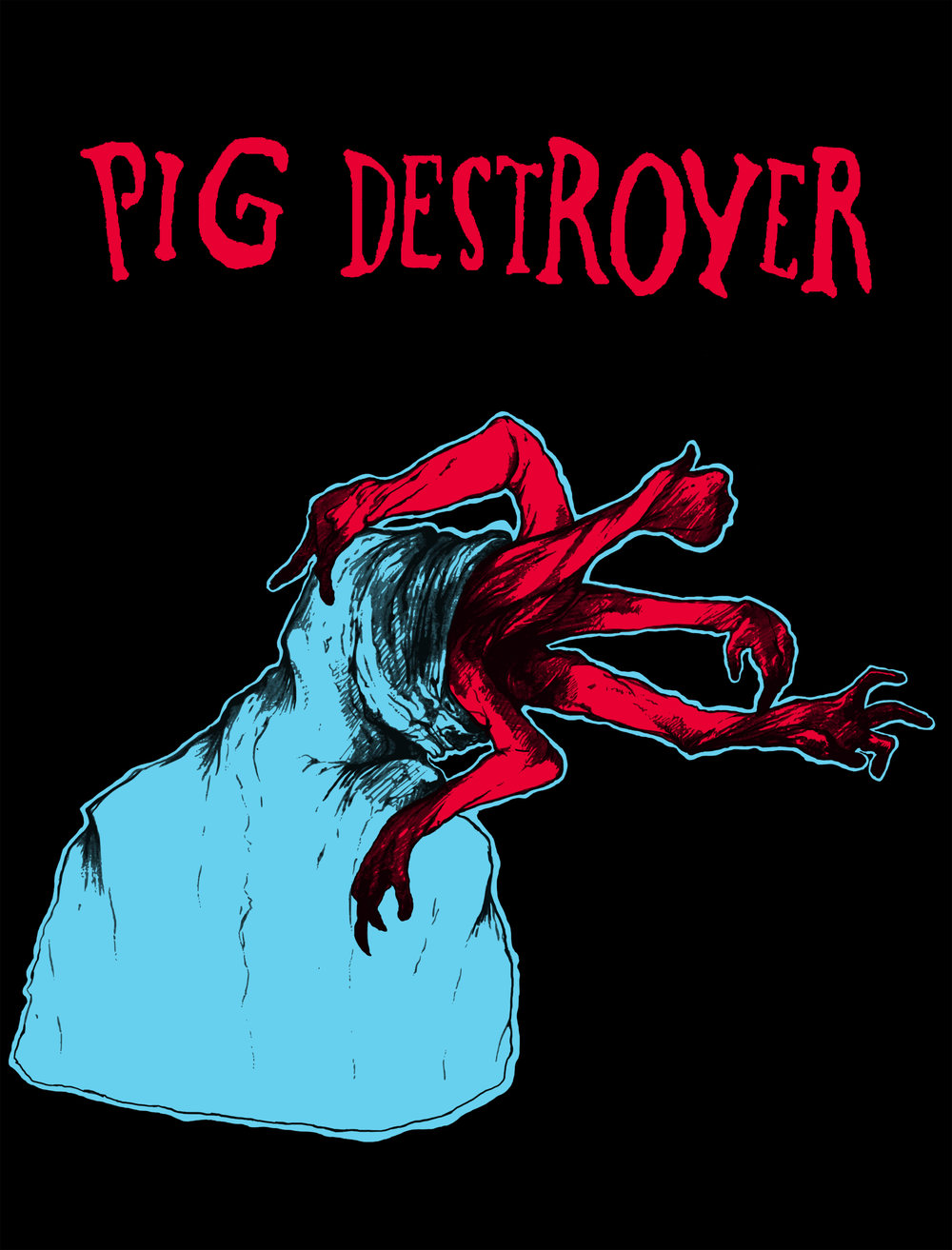 2018. Shirt design for  Pig Destroyer .
