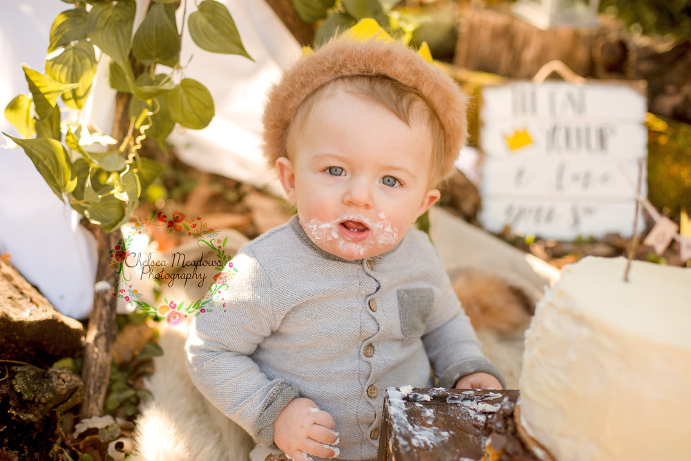 Matteo First Birthday Cake Smash - Nashville Family Photographer - Chelsea Meadows Photography (35).jpg