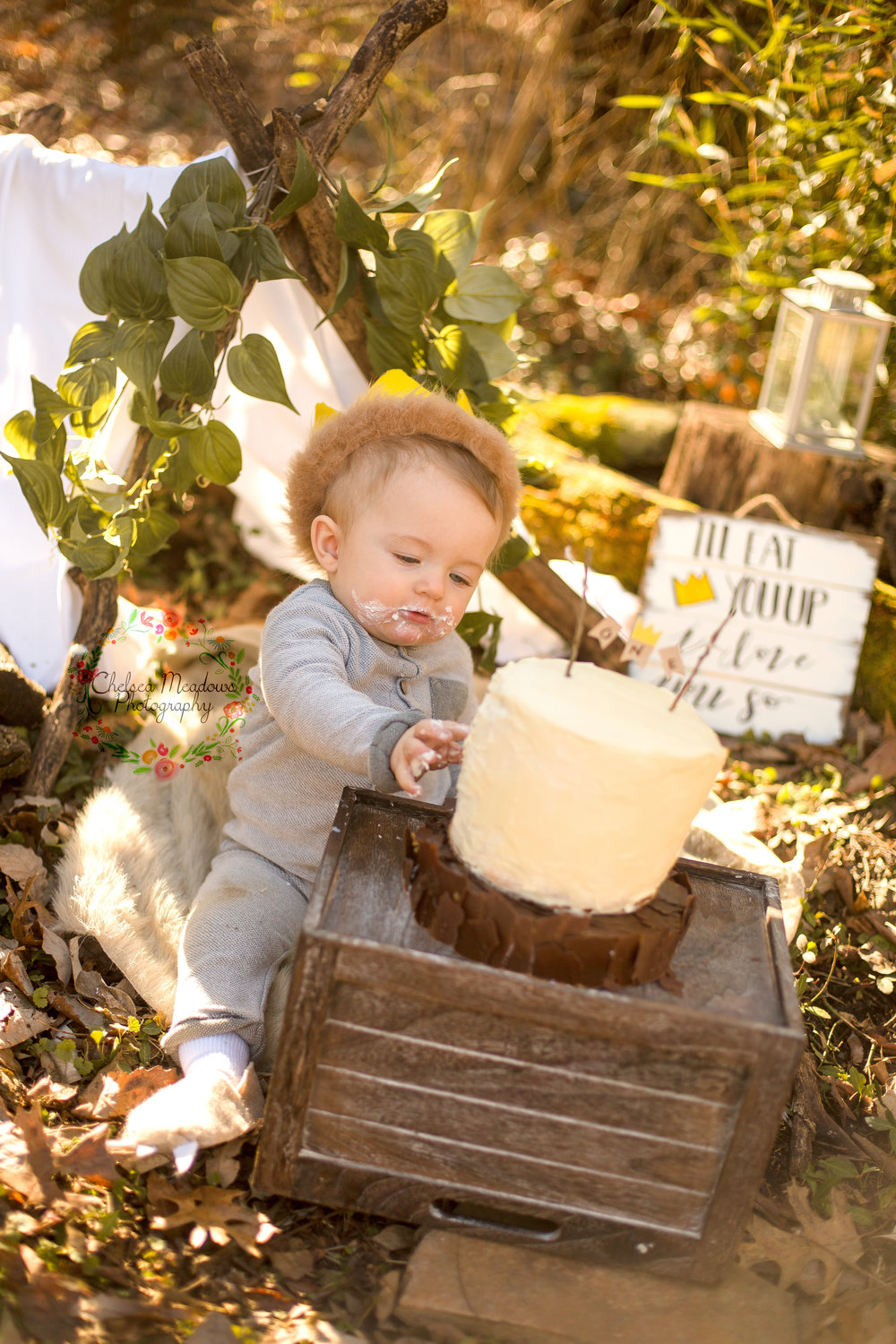 Matteo First Birthday Cake Smash - Nashville Family Photographer - Chelsea Meadows Photography (22).jpg