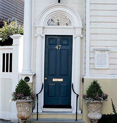 navy door