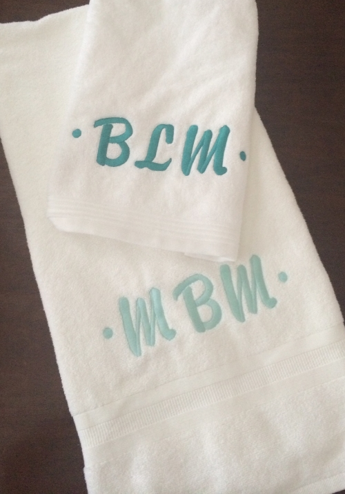 Murphy Monogramed Towels.JPG