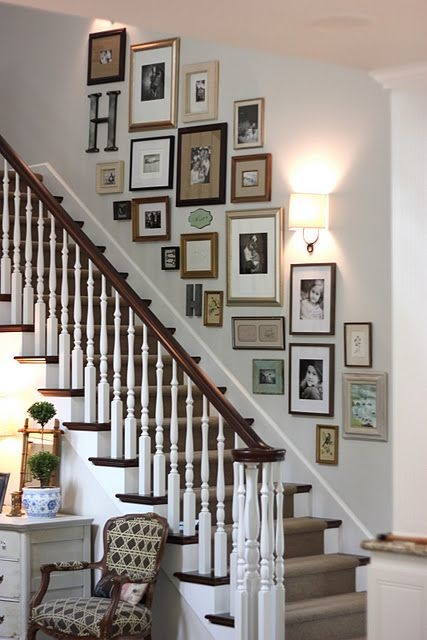 stair wall collage