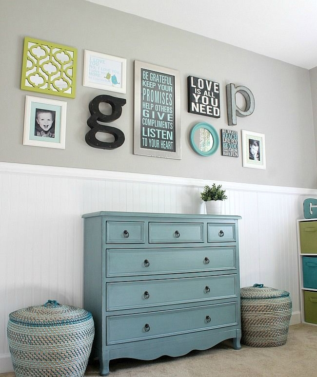 baby room wall collage
