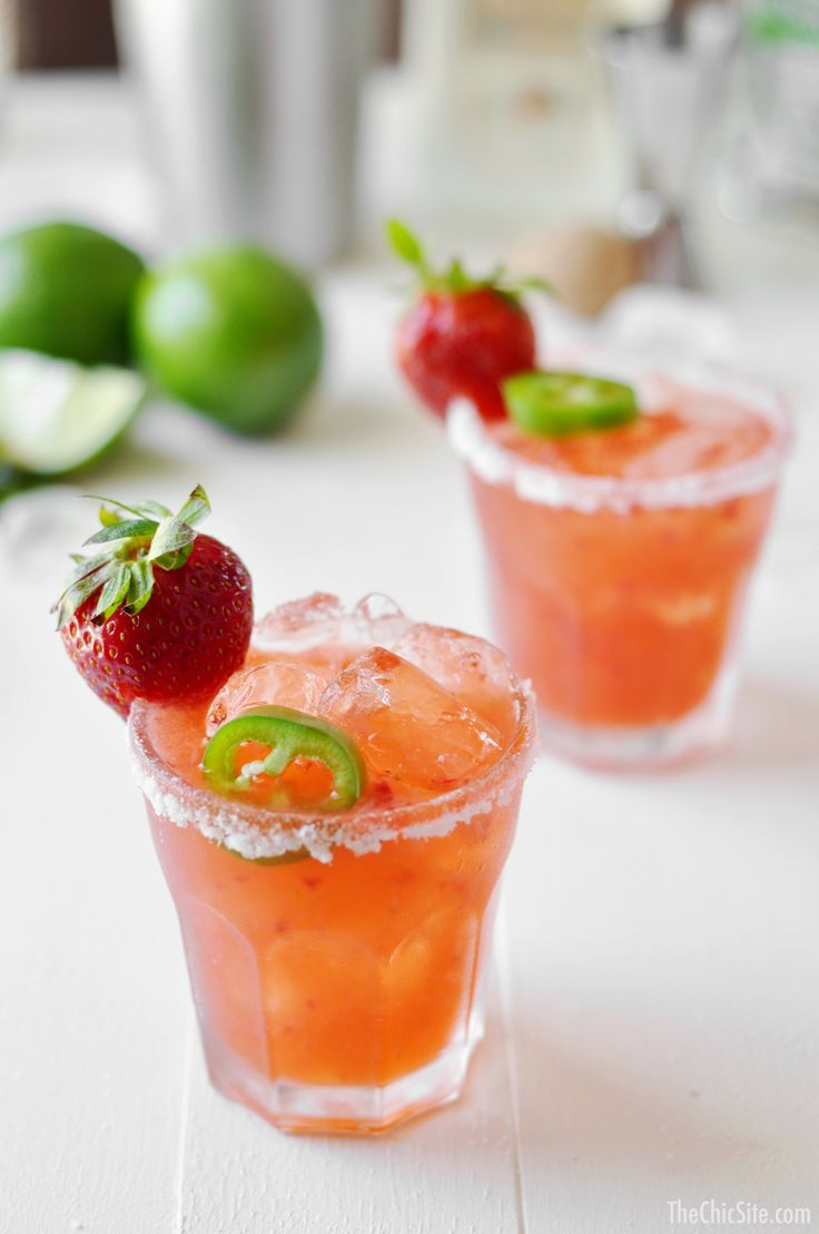 Fresh Strawberry Jalapeño Margarita