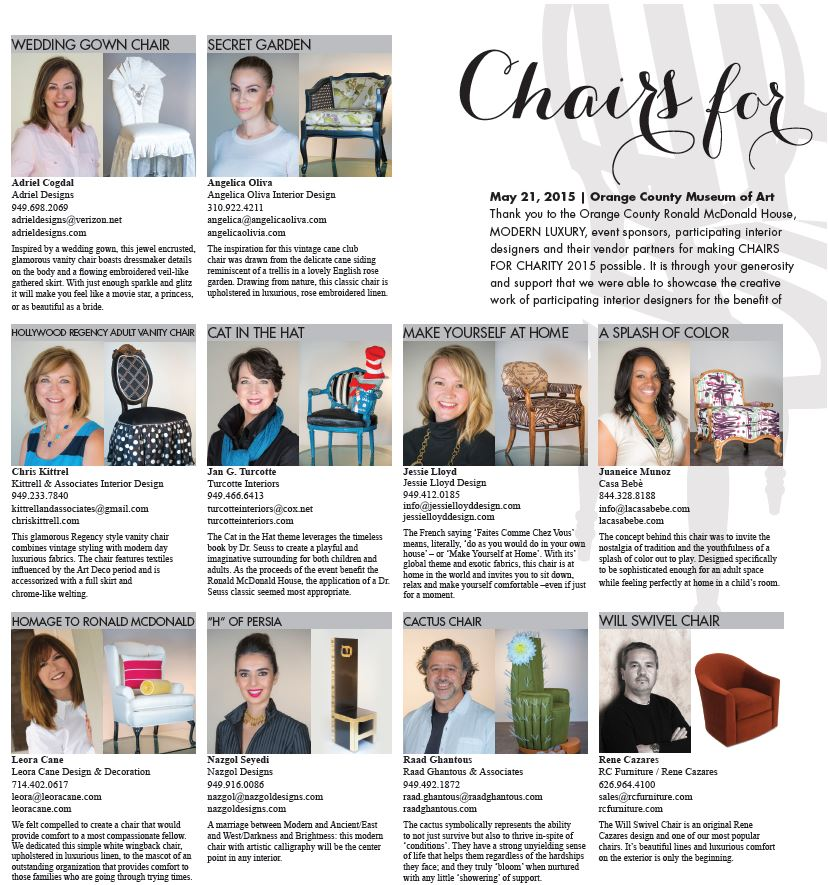 Chairs for Charity 2015
