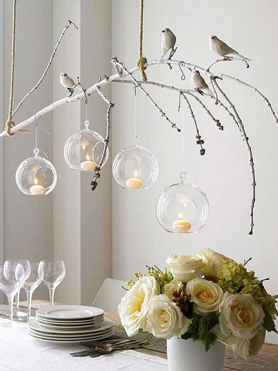 hanging twig center piece
