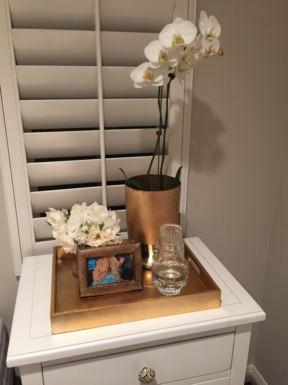 my beautiful new night stand styling