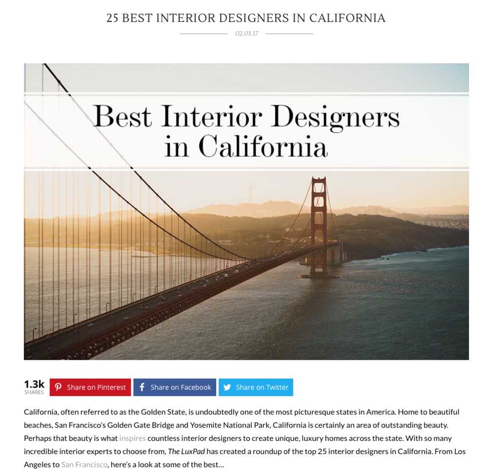 25 Best Interior Designers In California