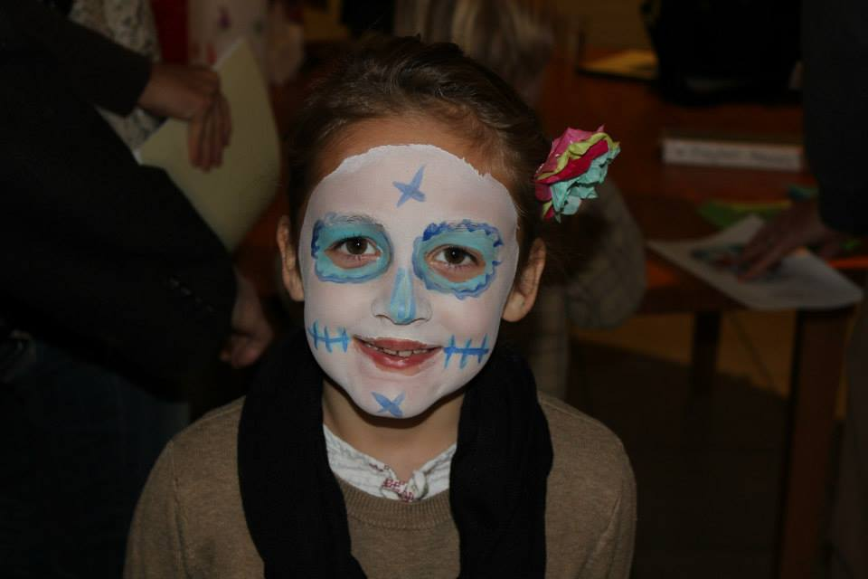 Here's how we do Day of the Dead. Click for a video.