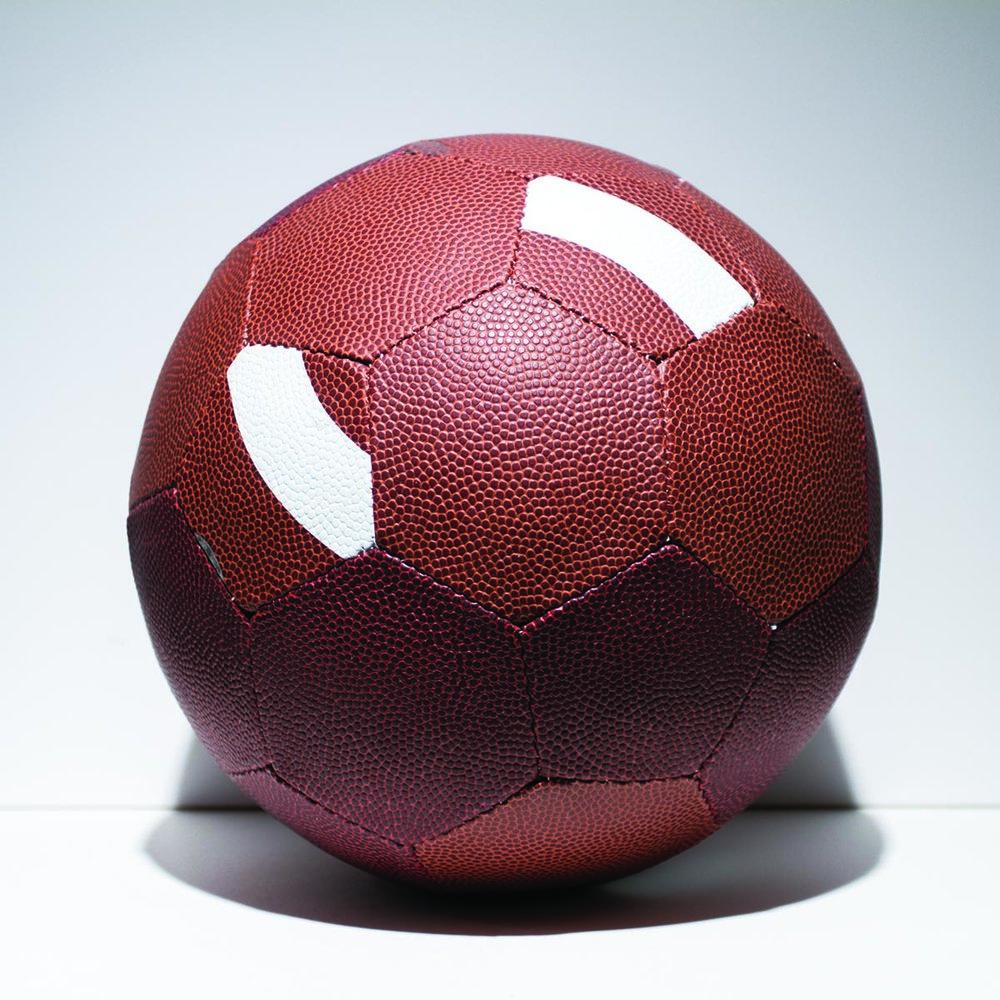 "Fútbol —   9"" — hand sewn composite leather hybrid futbol"