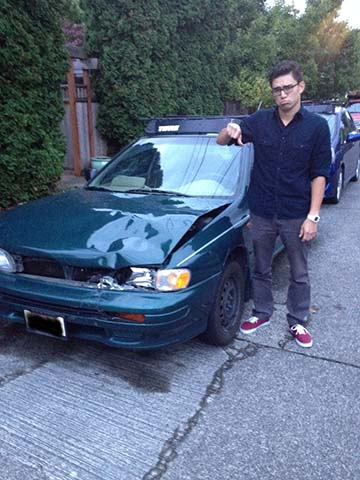"""""""If you're totaled and you know it, scrunch your hood..."""""""
