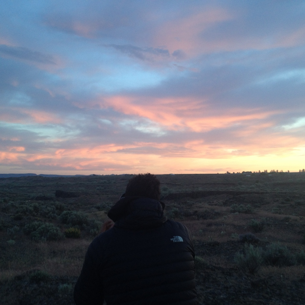 Adventures can be made or broken by the people involved. Here, Ernesto, of Overland the Americas, captures the last few moments of the fading sun.