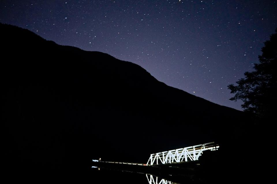 Boat launch at night. Diablo Lake, Colonial Creek Campground, WA