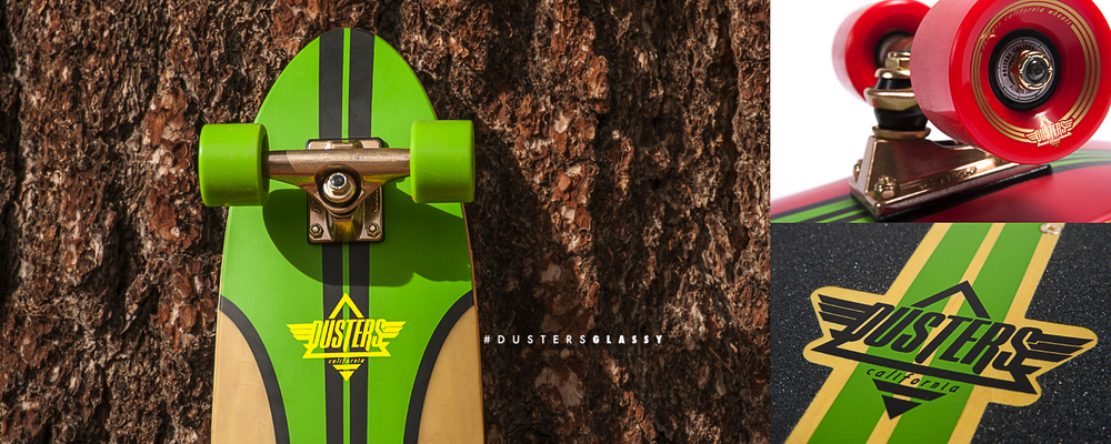 Dusters California | Glassy Rasta skateboard