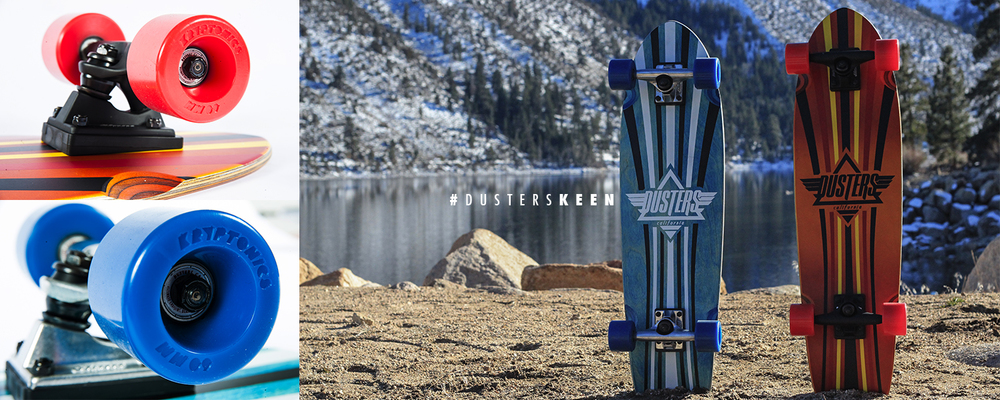 Dusters California | Keen Kryptonics Red and Blue Featuring Startrac Wheels