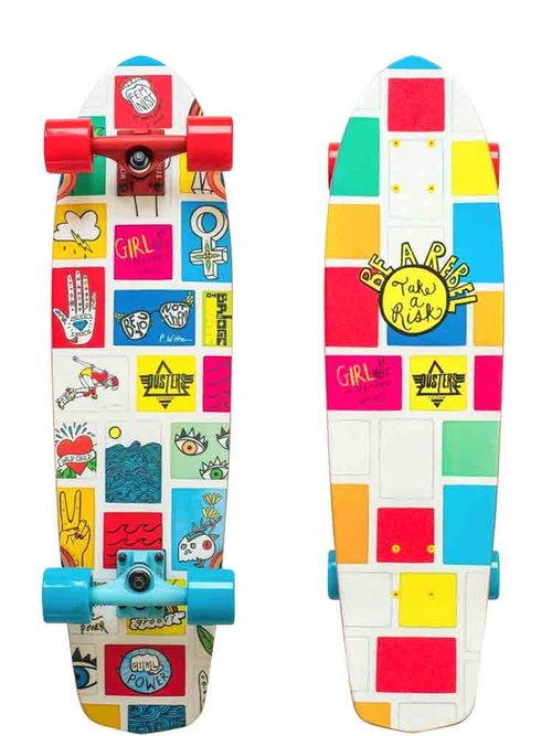 Dusters california longboards and cruiser skateboards girl power girl power gn4lw cruiser dustersgirlpowergn4lwcindywhiteheadskateboardg voltagebd Image collections