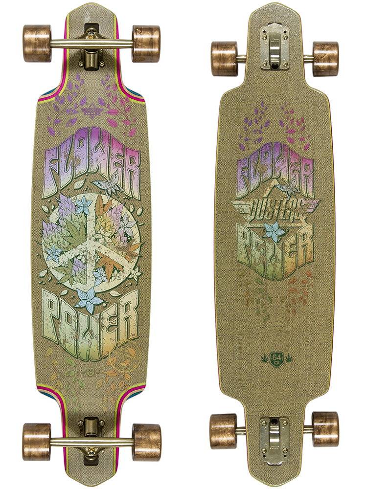 Flower Power Longboard