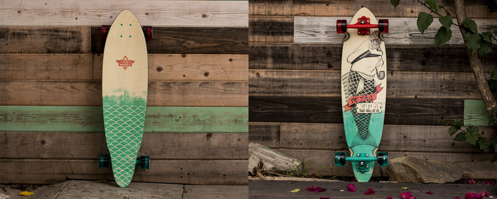 Dusters_California_Tuna_mini_longboard_fish_sailor_teal_red_skateboard