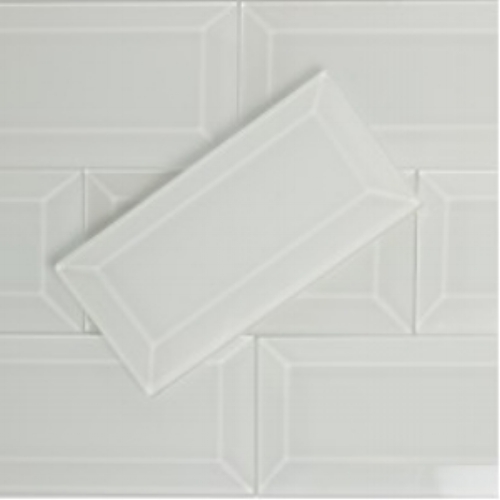 Beveled subway tiles
