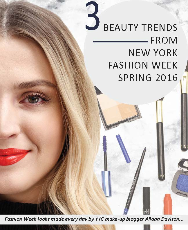page 1 Beauty trends from New York Fashion week Spring 2016