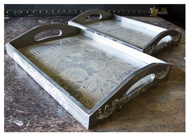 Upcycled Rustic Serving Trays from thicketworks