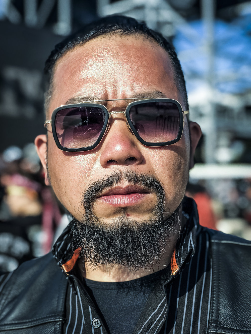 Louis Lee: He lives in Taichung City, Taiwan. He came with the Taiwan HOG Chapter and rode to the event from NYC with the NYC HOG chapter. He ides a breakout back home, but rode a roaching while here. He is the owner of Slick Barber Shops. I heard that they are excellent riders and all round great guys