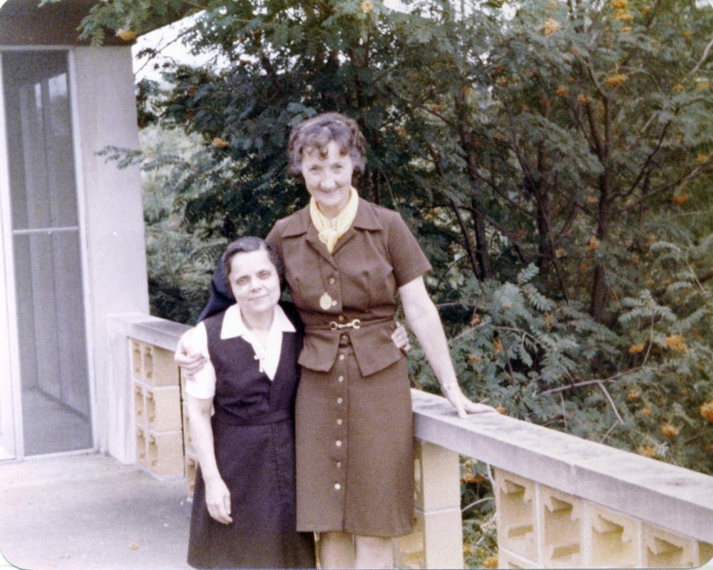 Sisters Teresita and Mercedes