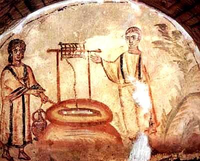 Catacomb fresco, Rome, 4th century