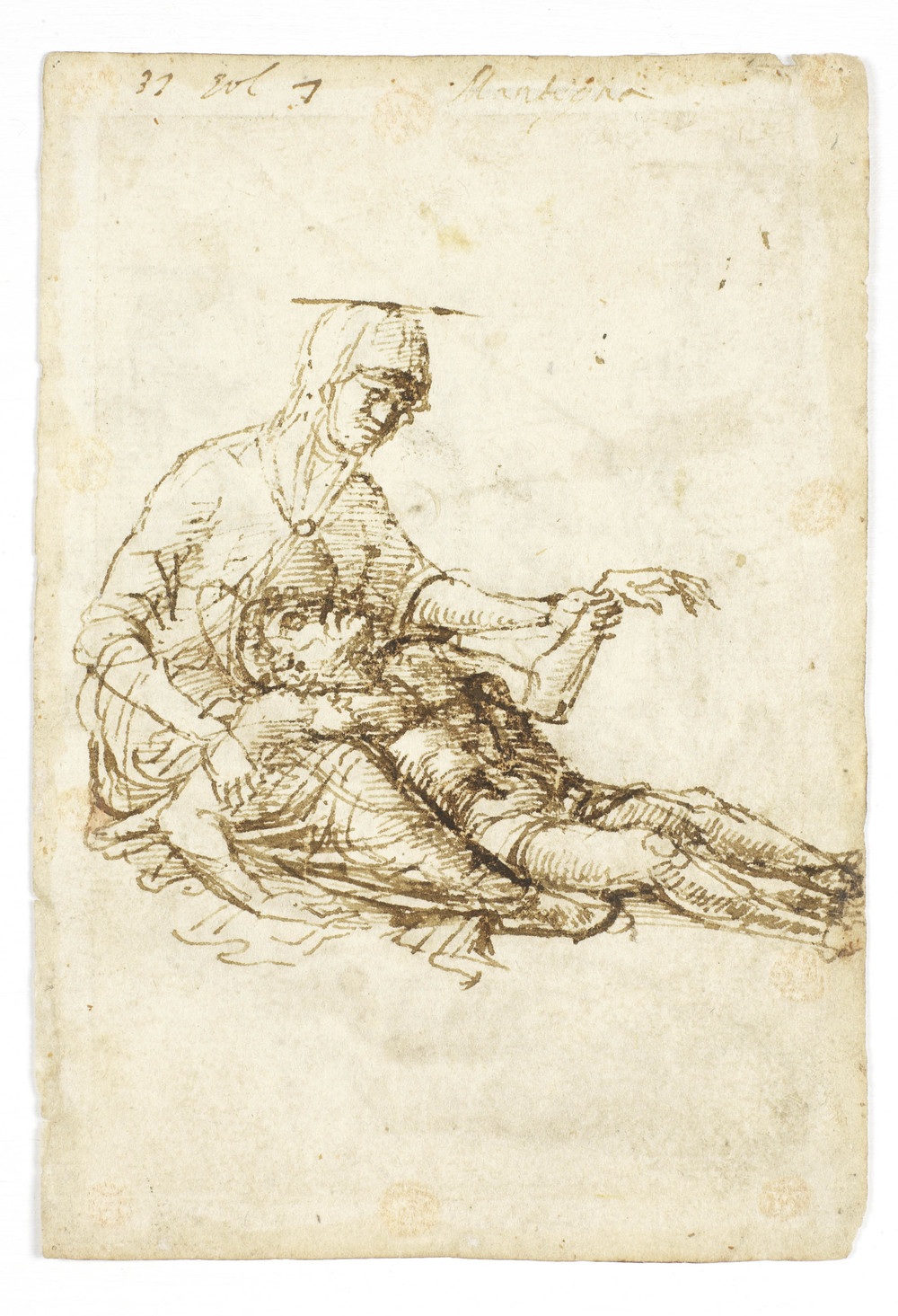 Study for Pieta, Andrea Mantegna(ca 1460, unpublished)