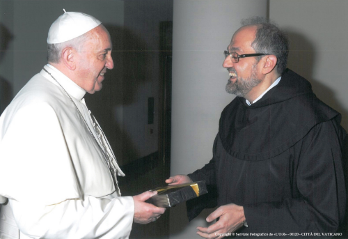 Convocation by the Father General   Pope Francis with P. Saverio Cannistrá, Prepósito General ocd