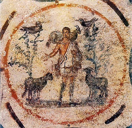 Good Shepherd from the Catacomb of Priscilla, 250-300