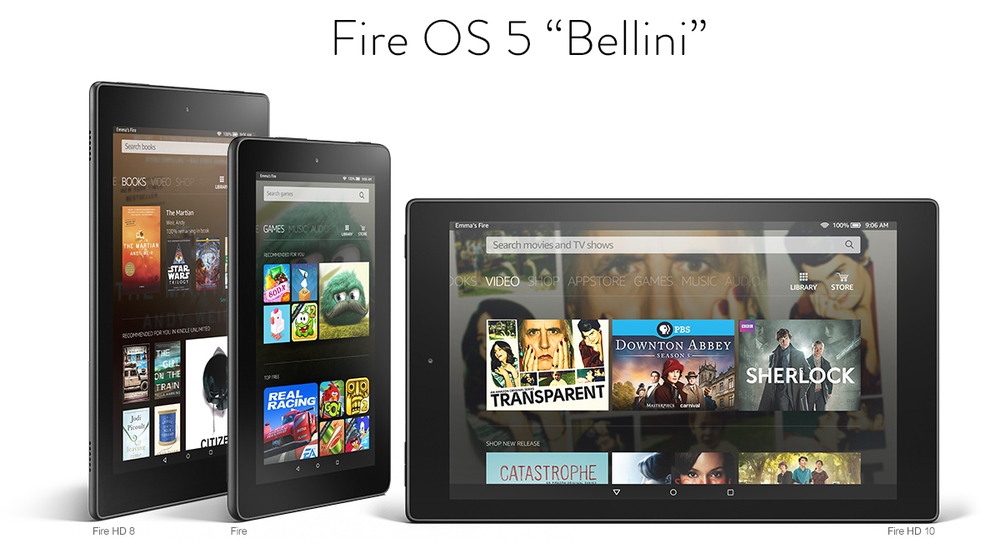"Amazon Fire OS 5 ""Bellini"""