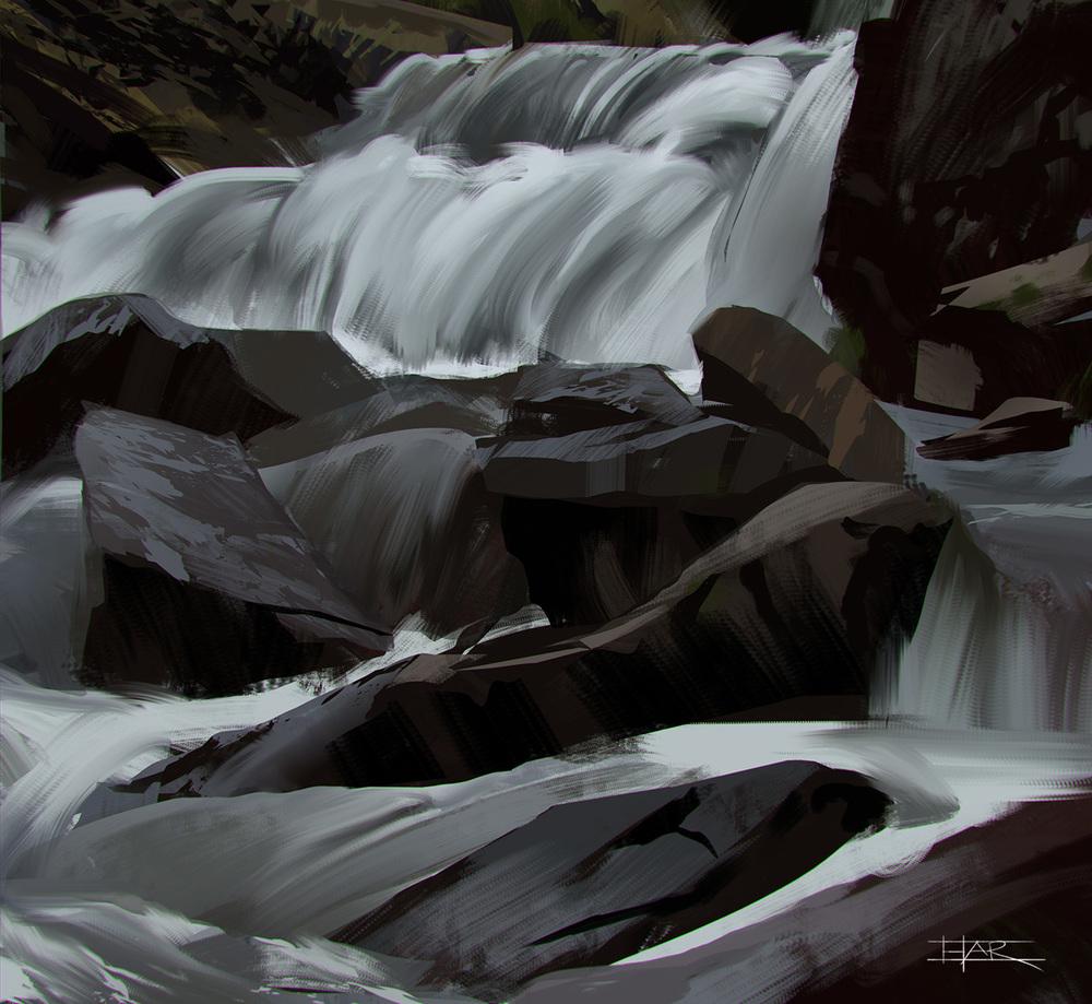 Waterfall Plein Air Study