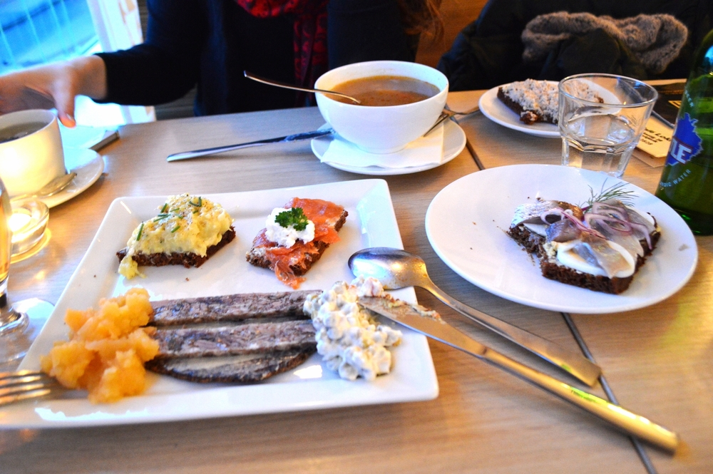 Café Loki, with our amazing spread of Icelandic food.