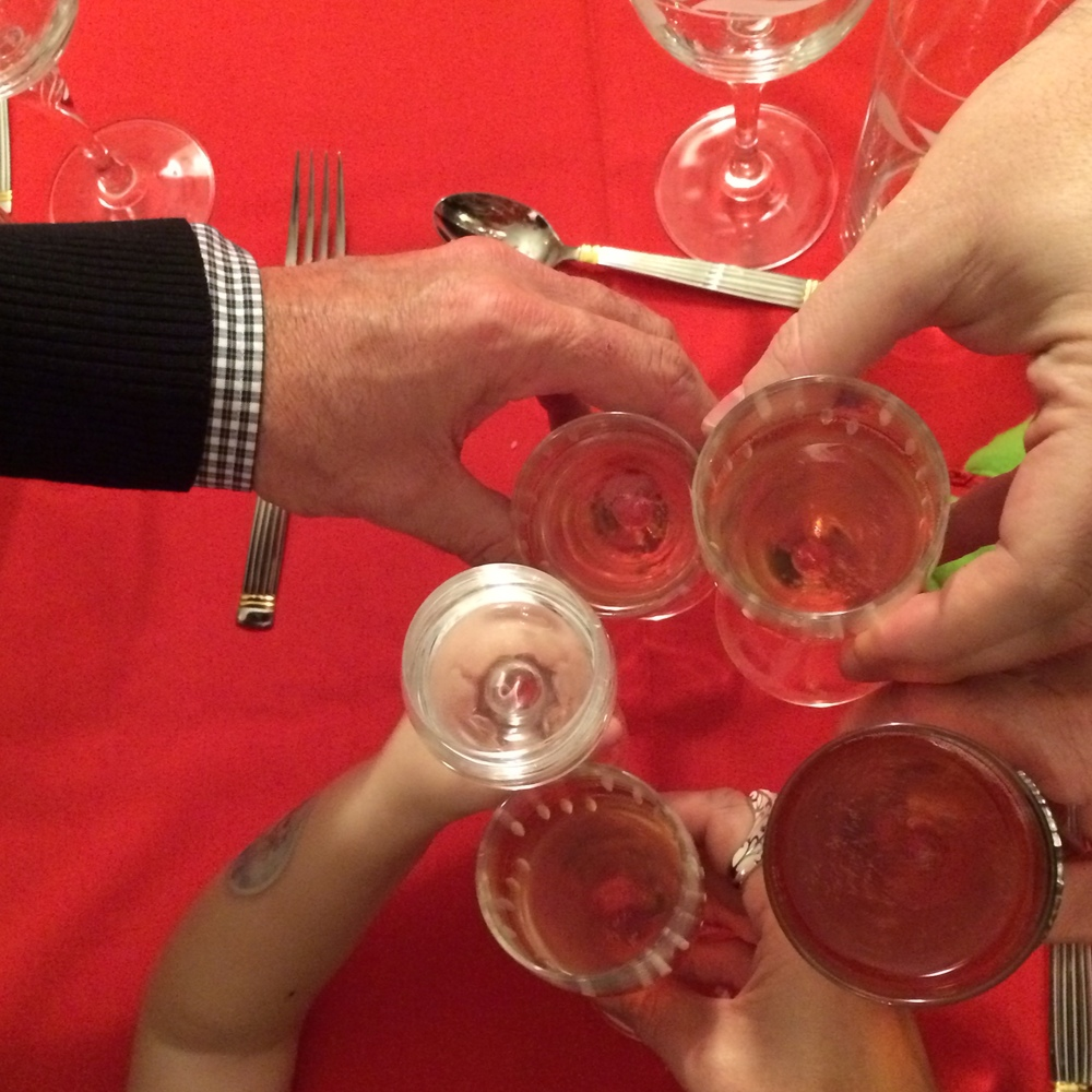 Cheers to celebrating the holidays with family and friends!