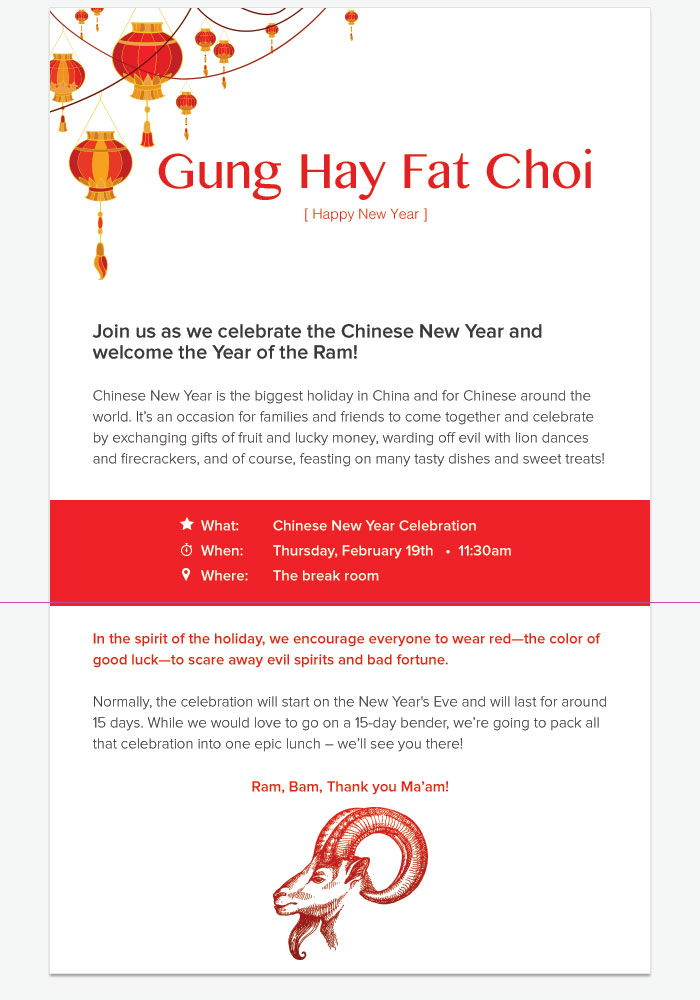 chinese new year invite
