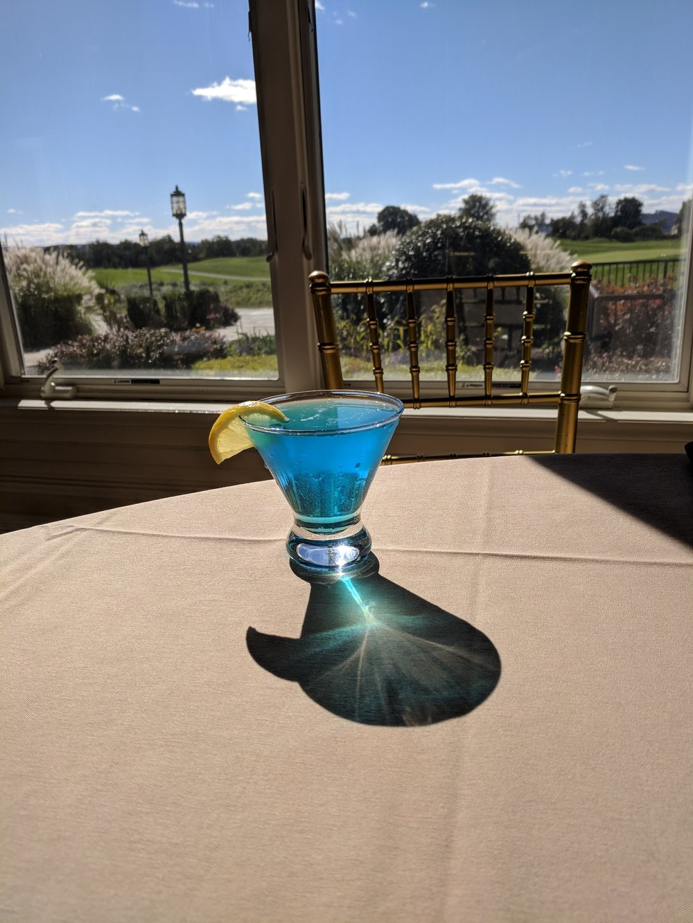 Winter Blue Martini