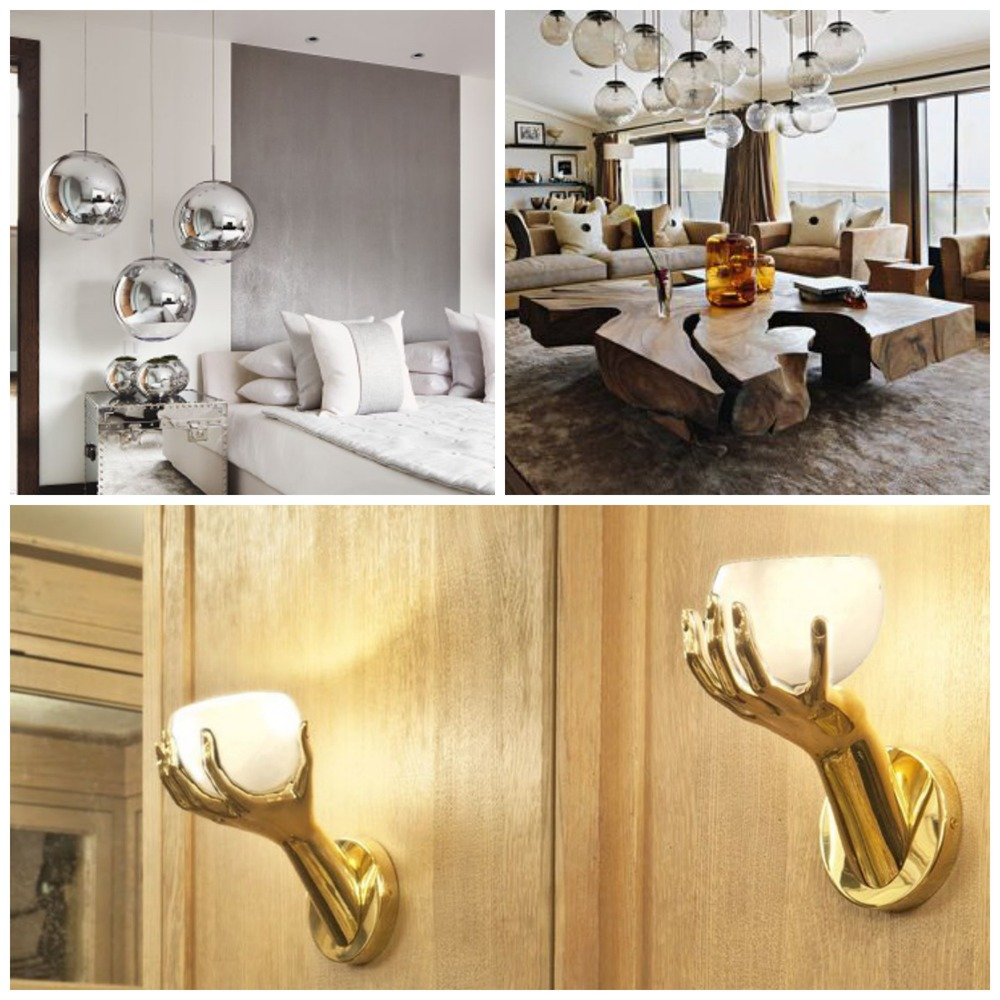 Statement lighting options. Images four, five and six (clockwise from top left).