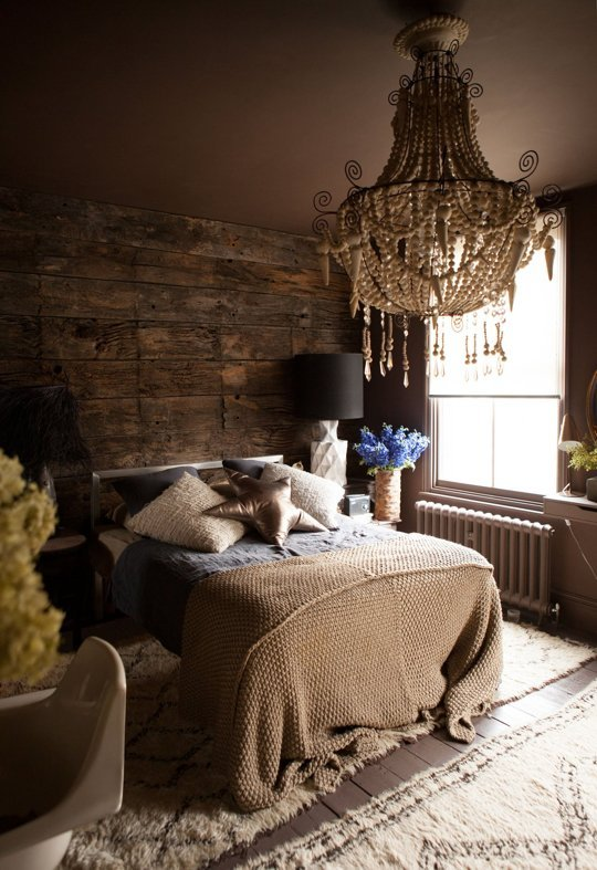 Newly renovated bedroom by Abigail Ahern.
