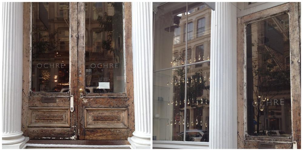 OCHRE's front entrance, SoHo (via my iPhone 4S).