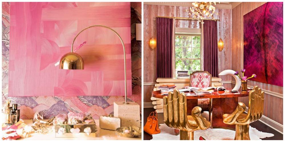 kelly wearstler pink interiors