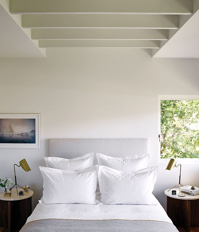 Add some fresh white linen to your space.Image via C Home.
