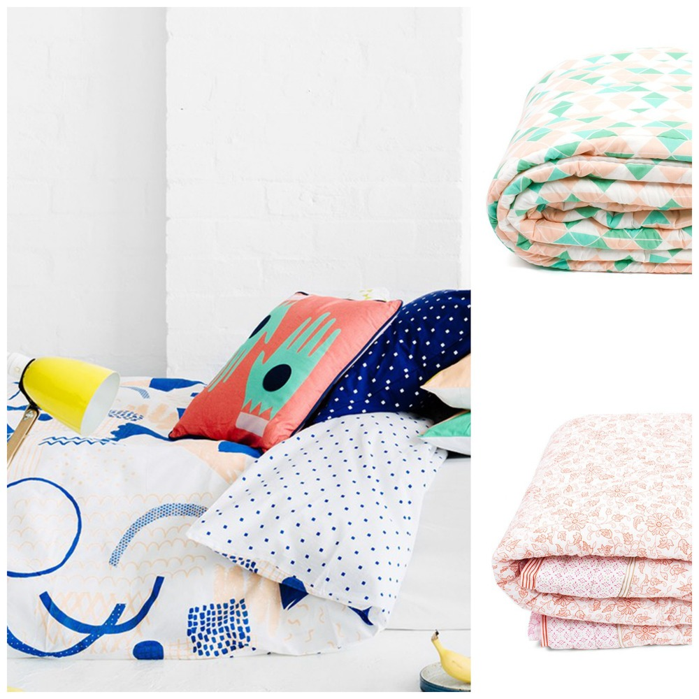 The new Arro Home collection, including theSketchbook Doona Cover and quilt cover range.