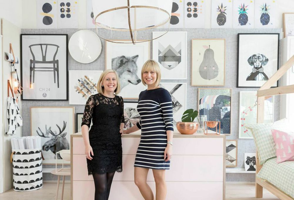Nat (left) + Kristy (right) of Norsu Interiors.